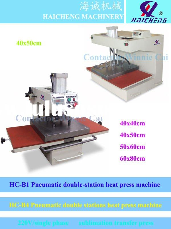 Double stations sublimation heat press machine for t-shirt 220v single phase