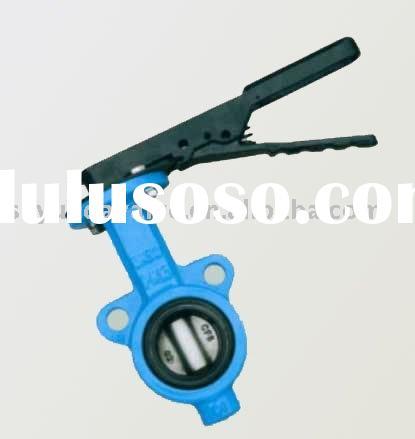 Ductile iron GGG50 wafer butterfly valve