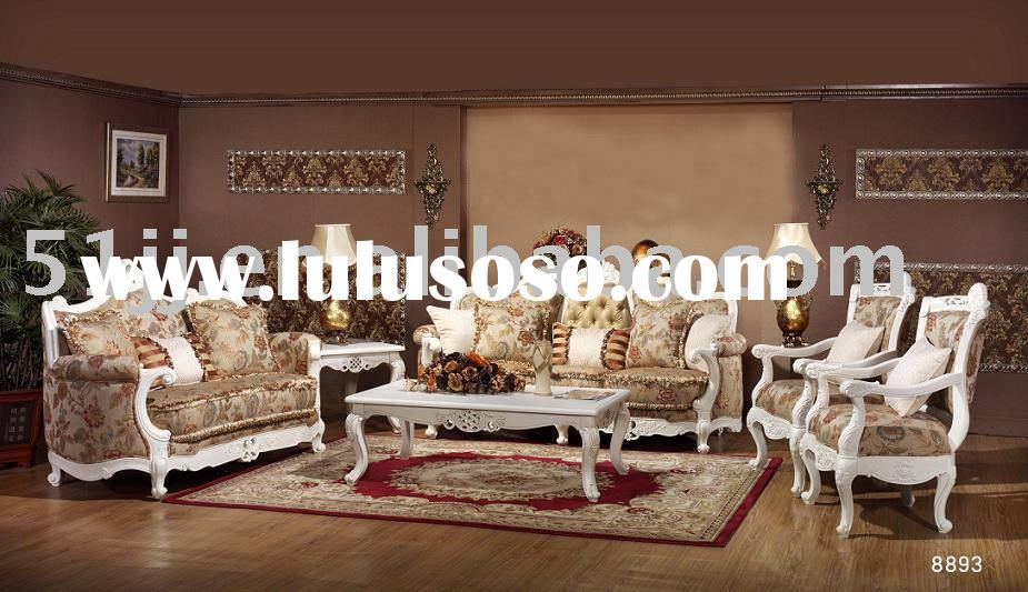 European wooden furniture/home furniture/living room sofa/antique fabric sofaMLG-M8893
