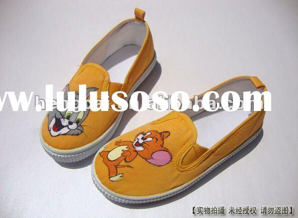 FF-TX-109 tom and jerry kid hand painted shoes