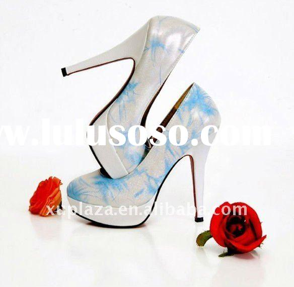 Fashion High heel Round Toe pumps Women Dress shoes High Heel Shoes Blue Gold Purple US4~8.5