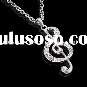 Fashion Jewelry Necklace With Music Note Pendant