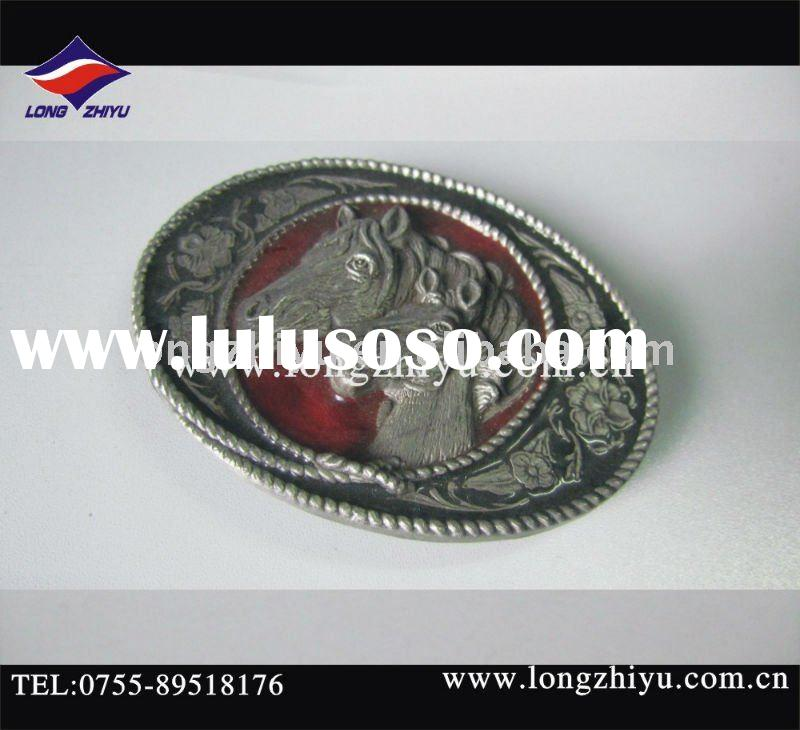 Fashion design metal horse belt buckle with horse
