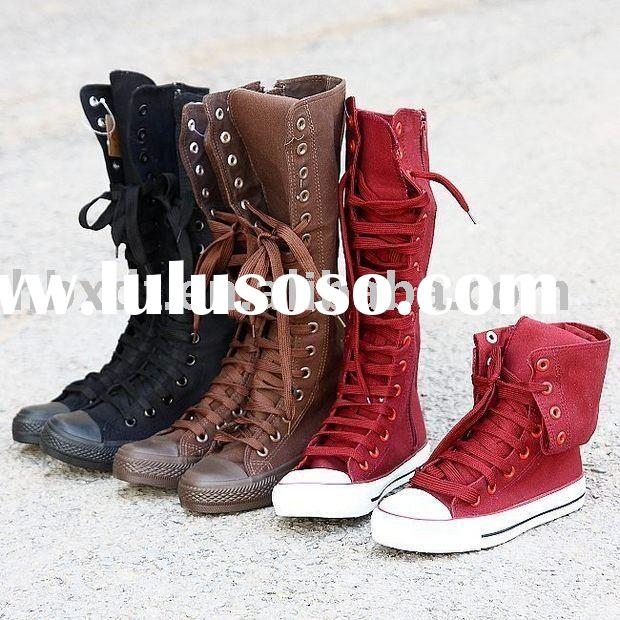 Fashion girls canvas shoes / canvas boots