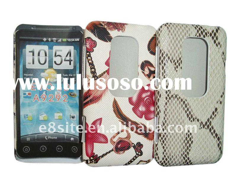 Flower Cell Phone Leather Case Cover For HTC EVO 3D A9292