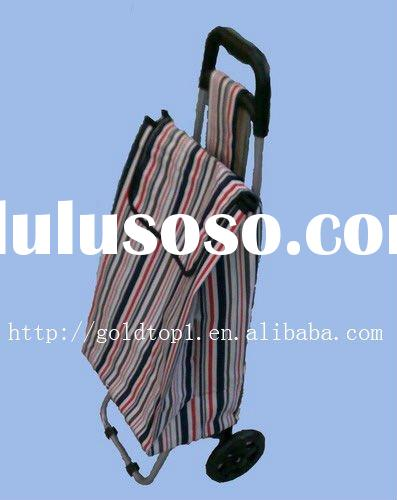 Folding shopping bag trolley