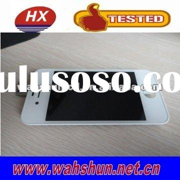 For iPhone 4 Digitizer Touch Panel Screen with LCD Display Screen + Flex Cable + White Supporting Fr