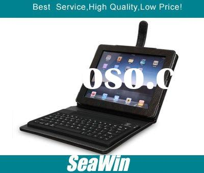 For ipad 2 leather case 2.0 Bluetooth wireless keyboard black and good quality