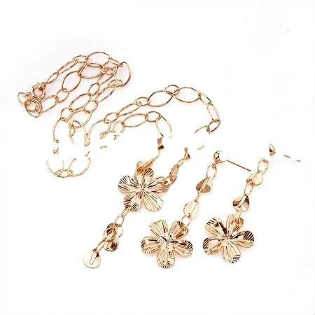 Free samples 2011 fashion jewelry set gold plated jewerly