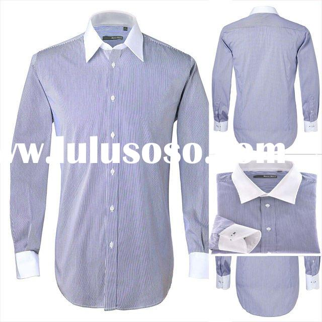 Free shipping 100% cotton custom made men shirt Tuxedo shirt business shirt--fit your body well bran