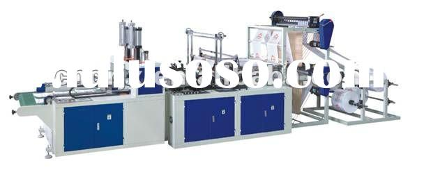 Full automatic double line t shirt bag making machine