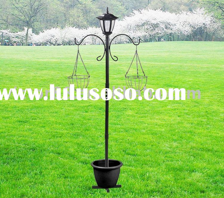 Garden Solar Lamp with Two hanging Baskets