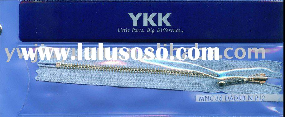 Genuine YKK No.3 metal nickle closed-end zipper (MNC-36 DADRB)