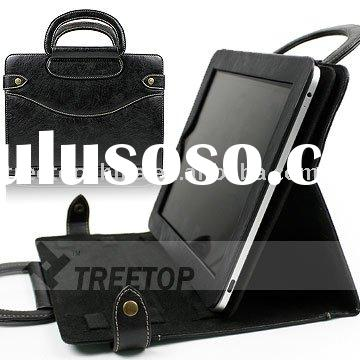 Genuine leather case for ipad 2 with leather handles--HOT SELLING!!