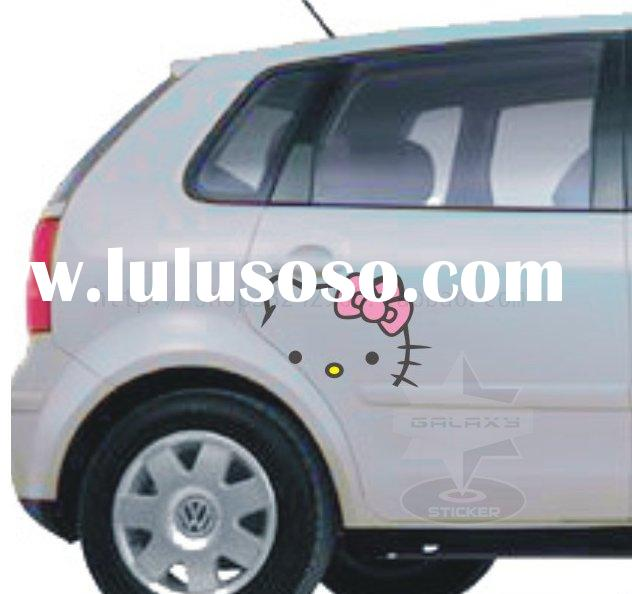 Glossy Auto/Car Vinyl Hello Kitty Decorative Stickers Decals T1142 kitty sticker