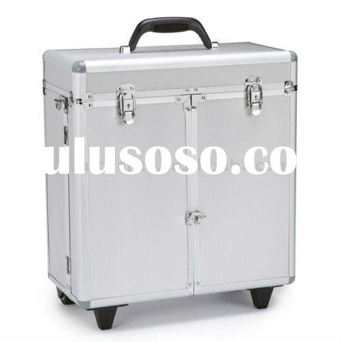 Groomer Stylist Barber Aluminum Tool Case Cart w/Wheels
