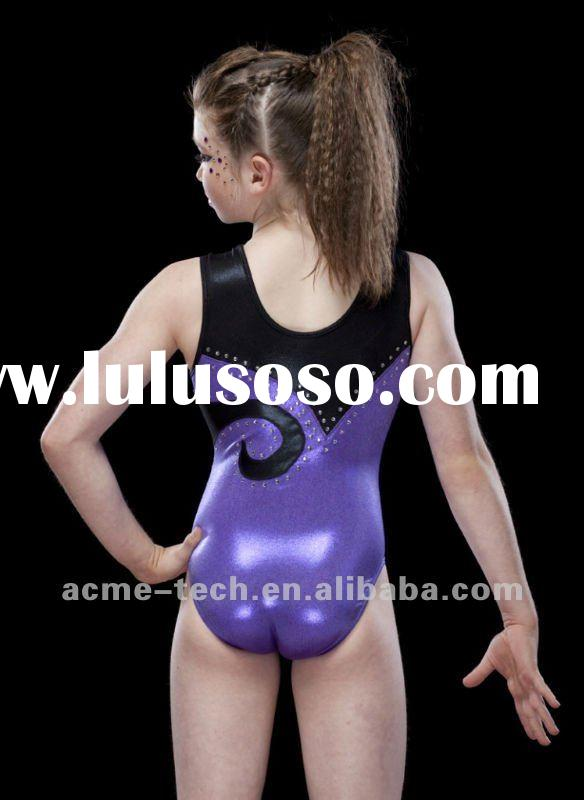 Gymnastic Fashion Elastic unitard and cheer dance wear