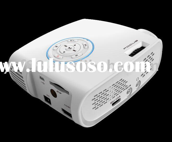 HD 1080p led lamp life 20,000 hrs lcos mni projector portable projector