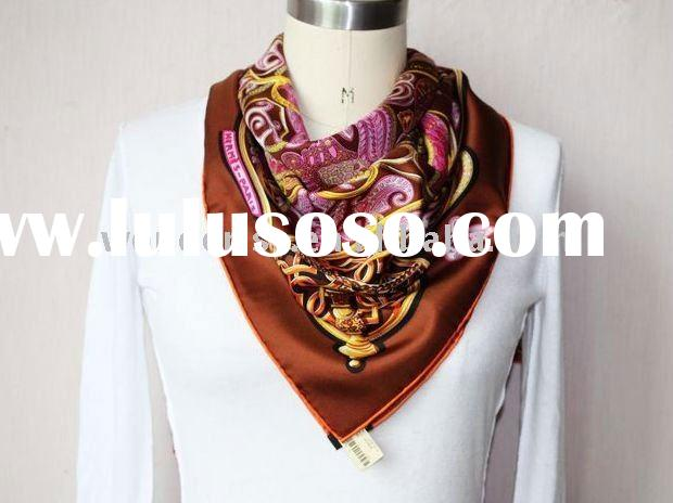 High Class 2012 New Design Fashion 100% Silk Scarf,Ladies Fashion Shawl