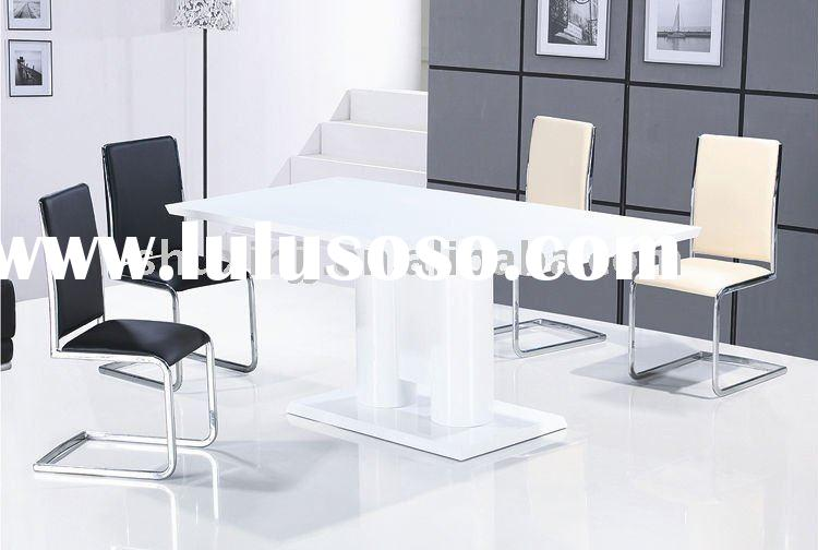 High Gloss Wooden Dining Table/ Marble top dining table