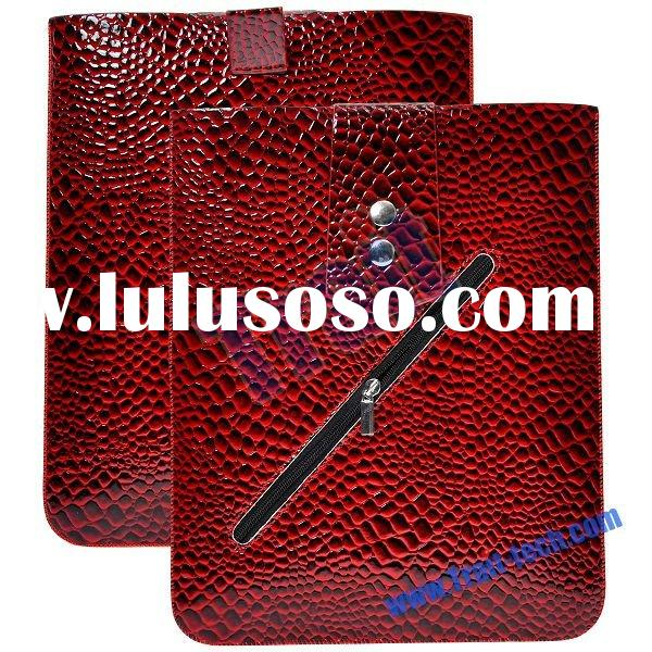 High Quality Leather Case With Zipper For iPad 2(Dark Red)