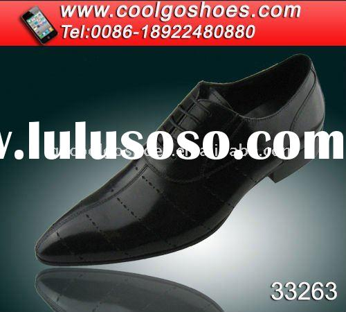 High quality leather pointed toe shoes for men
