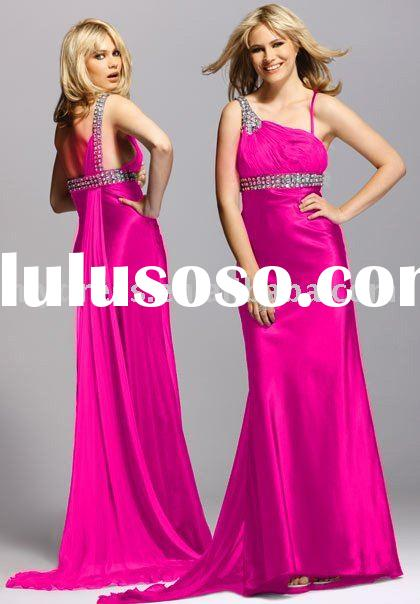 Hot Pink Formal Gown Party Dresses