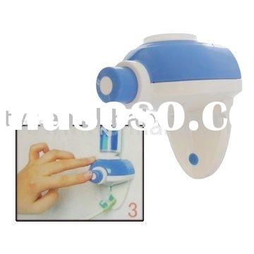 Household Item,Hand Free One Touch Automatic Toothpaste Dispenser Squeezer