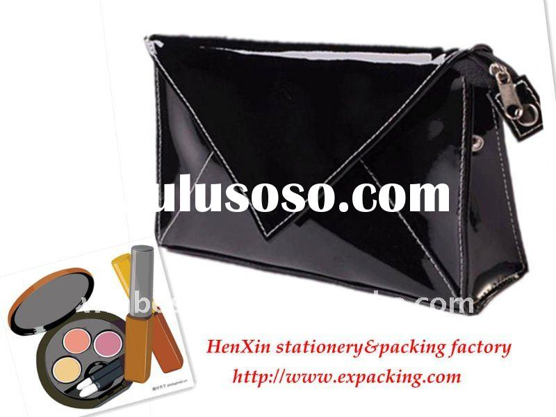 Imitation leather Mirror cosmetic bag with mirror