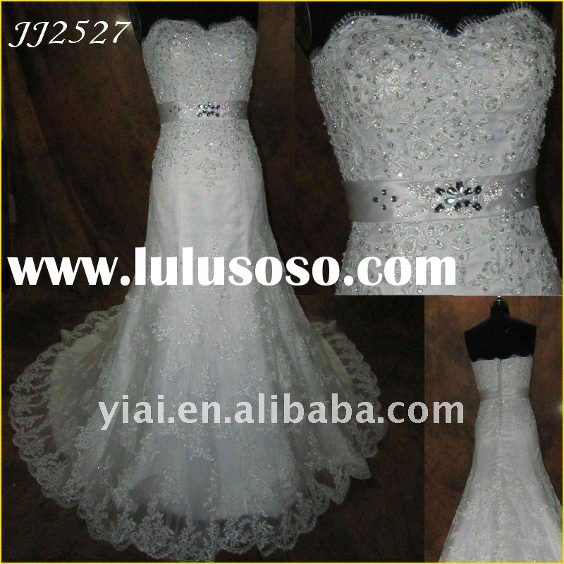 JJ2527 Free Shipping Newest Beaded Lace Mermaid Bridal Gown
