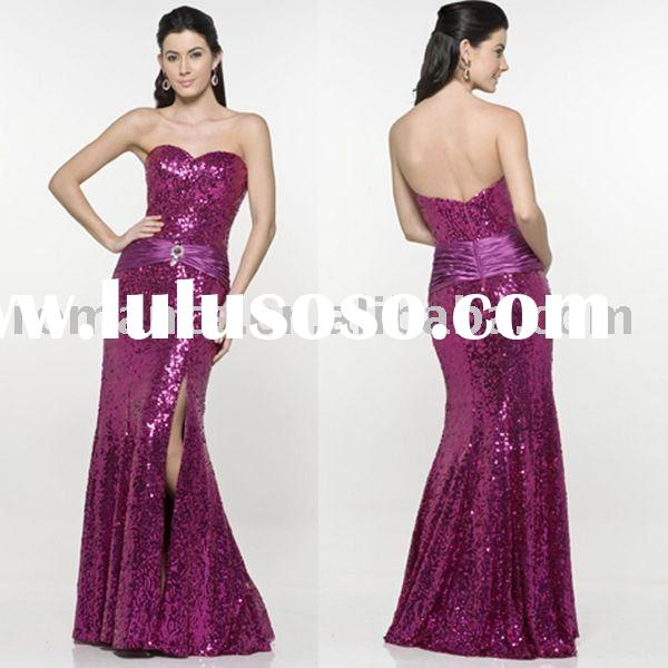 LD366 Fashion Strapless Ladies' Evening Dress
