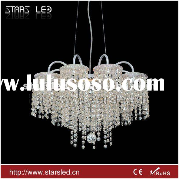 LED modern aluminium crystal pendant light(CE&Rohs&SAA)