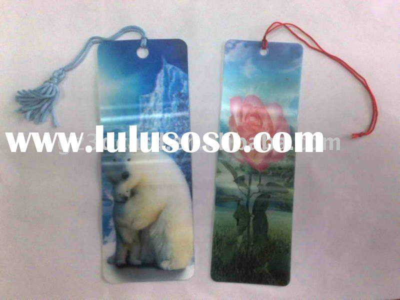 Lenticular 3d bookmark with deep look effect