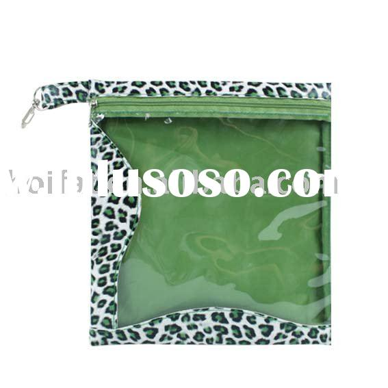 LeopardCosmetic Bag Clear PVC Cosmetic Pouch Printing Beauty Bag Make up Bag PU cosmetic case Polyes