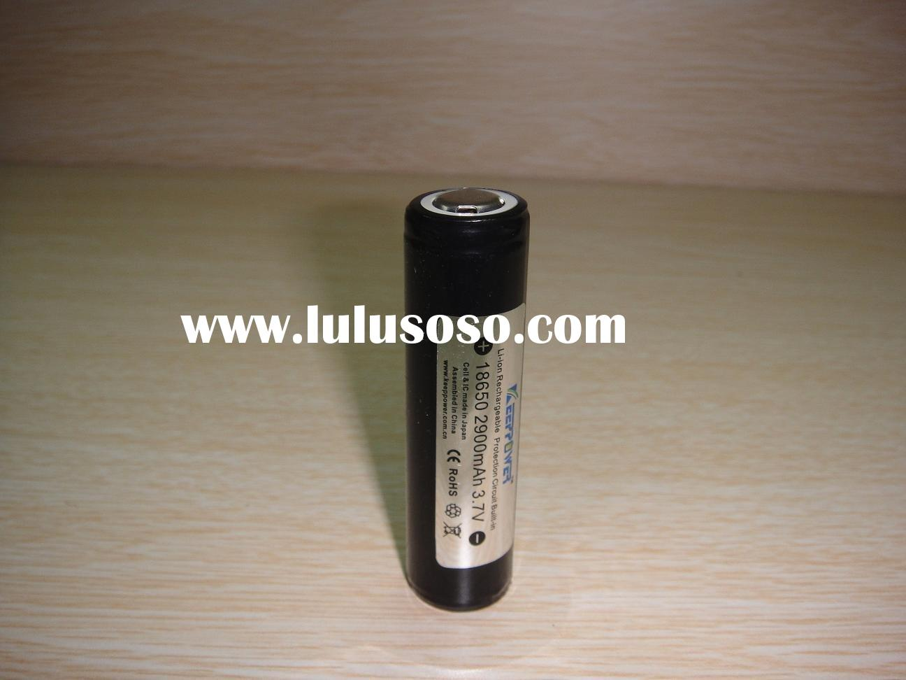 Li ion rechargeable battey 18650 3.7V 2900mAh IC biuilt in
