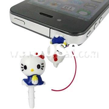 Lovely Hello Kitty 3.5mm Earphone Jack Anti-dust Plug Stopper for iPhone 4 (AT&T, Verizon)
