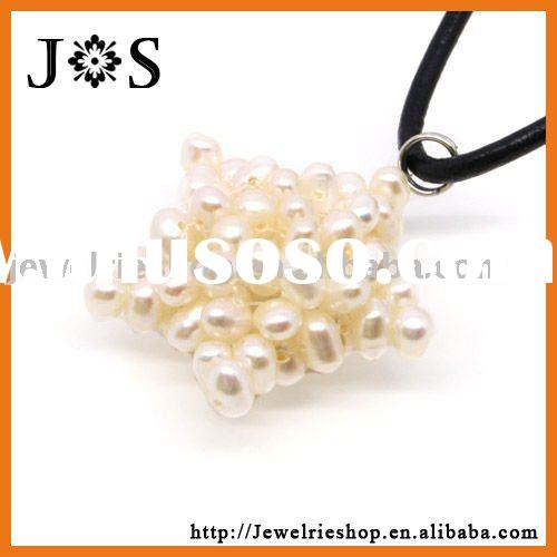 Luck Star White Cultured Freshwater Pearl Beads Pendant