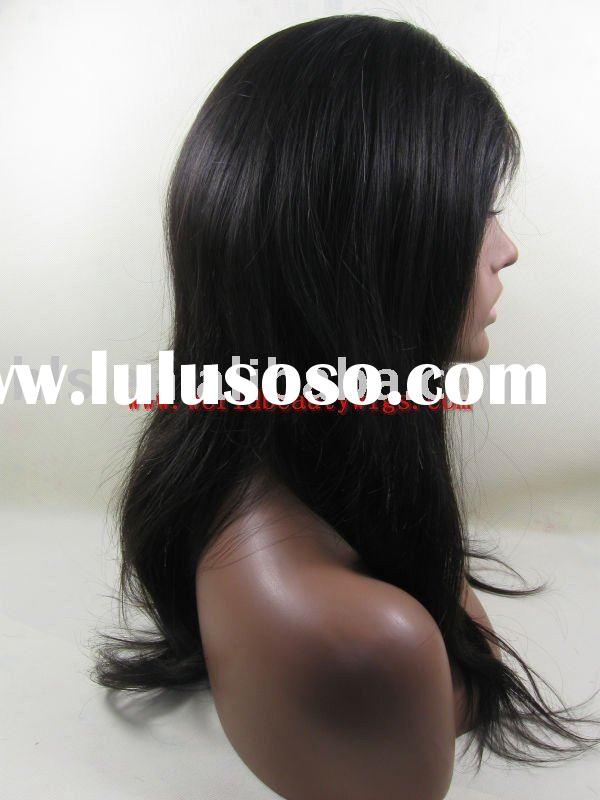 Malaysian hair full lace wig/accept paypal