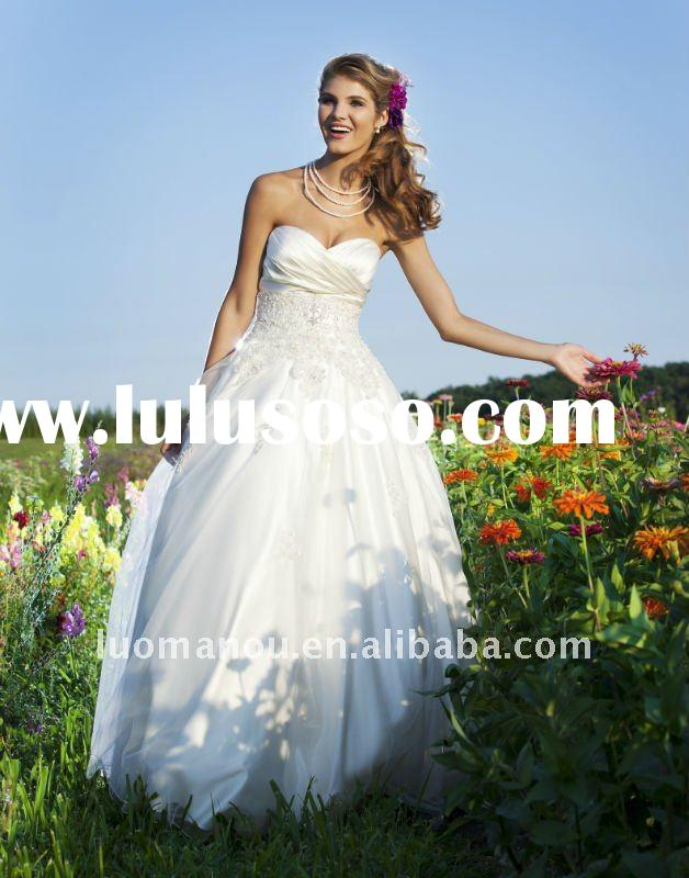 Most beautiful and attractive 2011 new fashion designer wedding dress SCB3651