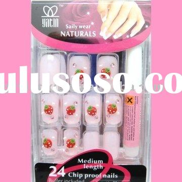 Nail art frensh,french artificial nail tips, 24pcs/box