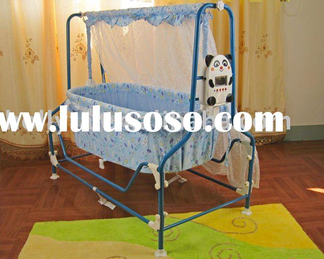 New design Electric infant cradle/baby bed with music play