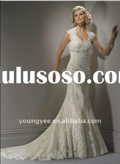 New style short sleeve backless lace wedding dress 2012,bridal gown