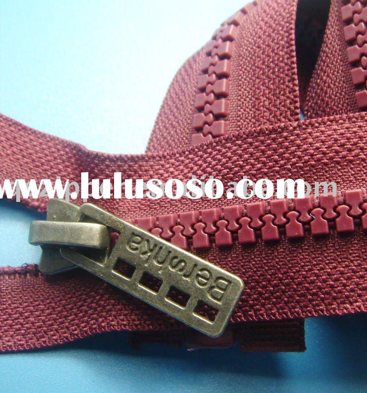 No.8 plastic open end zipper with special slider