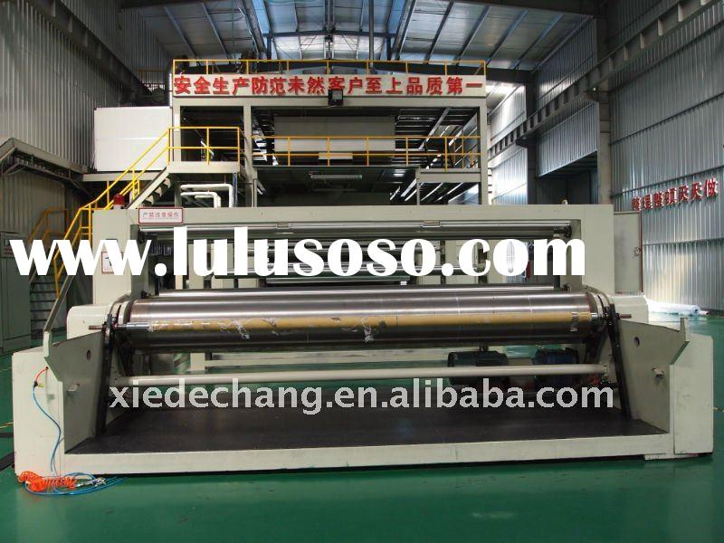 Non woven fabric making machine for shopping bags