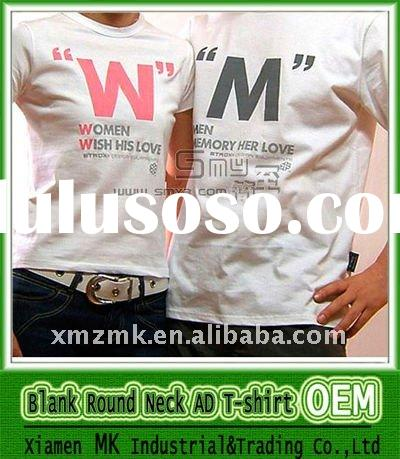 OEM Silk Screen Printing 100% Cotton T-shirt