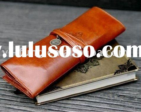 PU Leather Tether Pencil Case/pencil Bag/pen Pocket/Cosmetic Bag/coin bag/Pouch/super Gift