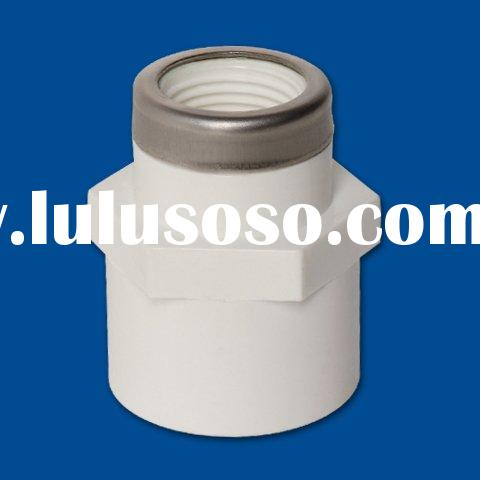 PVC Fittings: Reducing Coupling (Soc x Mipt with Stainless Steel Collar)