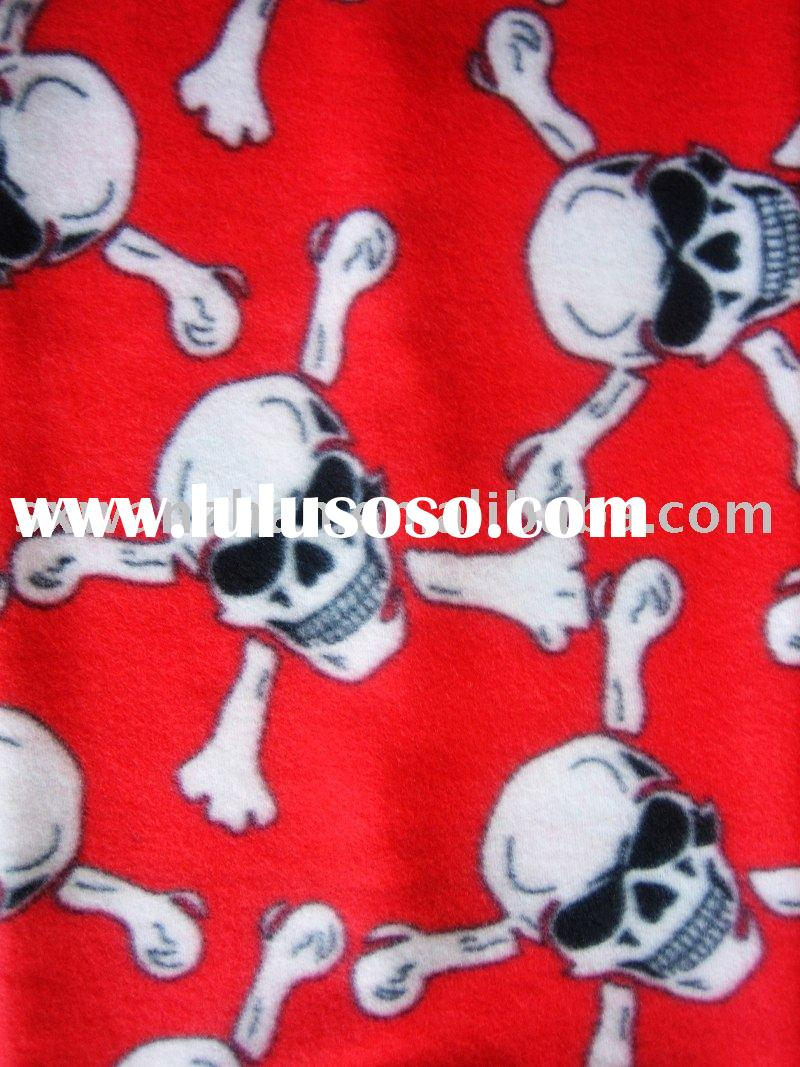 Polyester Polar Fleece/ printed polar fleece/2 sides brushed printed polar fleece fabric