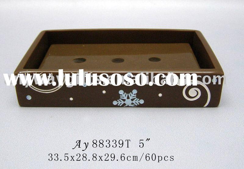 Polyresin Home decoration---Bathroom accessories decoration(Soap holder) Resin craft,promotion gifts