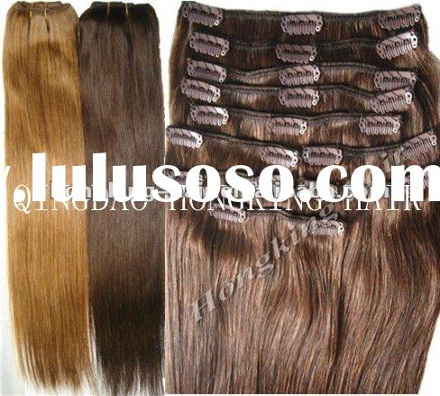 Premium Natural Human Hair Clip In Hair Extensions Wholesale